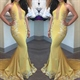 Halter Applique Embellished Mermaid Evening Dress With Front Keyhole
