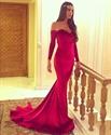 Elegant Off The Shoulder Long Sleeve Floor Length Mermaid Prom Dress
