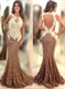 Elegant Sleeveless Lace Sheath Mermaid Prom Dress With Keyhole Detail