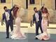 Pink Sleeveless Beaded Bodice Sheer Overlay Mermaid Long Prom Dress