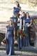 Navy Blue Short-Sleeve Backless Sequin Mermaid Long Bridesmaid Dress