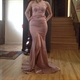 Strapless Sweetheart Floor Length Mermaid Long Evening Gown With Slit