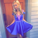 Lovely Knee Length V-Neck A-Line Homecoming Dress With Embellishment