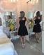 Black Sleeveless Knee Length Lace Homecoming Dress With Keyhole Back