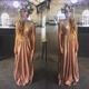 Lovely Sleeveless Sequin V-Neck A-Line Floor Length Bridesmaid Dress