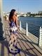 Royal Blue Strapless Lace Applique Embellished Long Dress With Split