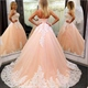 Strapless Sweetheart A-Line Tulle Ball Gown With Lace Embellishments