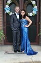 Strapless Beaded Bodice Floor Length Sequin Mermaid Gown With Split