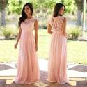 Elegant Sleeveless Floor Length A-Line Chiffon Dress With Lace Bodice