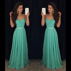 A-Line Strapless Floor Length Chiffon Prom Dress With Ruched Bodice
