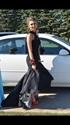 Black Sleeveless Lace Embellished Drop Waist Mermaid Bridesmaid Dress
