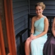 One Shoulder Chiffon Bead Embellished Long Bridesmaid Dress With Slit