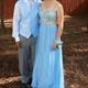 Spaghetti Strap Beaded Bodice Chiffon Floor Length Bridesmaid Dress