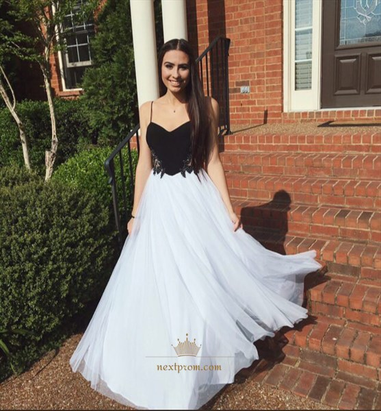 Simple Floor Length A-Line Sweetheart Prom Dress With Spaghetti Strap