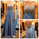 Sleeveless Illusion Neckline A-Line Ruched Chiffon Long Evening Dress