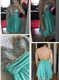 Sleeveless Knee Length Sweetheart Backless A-Line Beaded Chiffon Dress