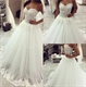 Strapless Sweetheart Floor Length A-Line Tulle Wedding Dress With Lace