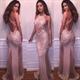 Sleeveless Backless Lace Embellished Mermaid Evening Dress With Slit