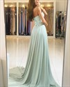 Elegant A-Line Strapless Sweetheart Lace Top Chiffon Bottom Prom Dress
