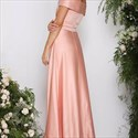 Elegant A Line Floor Length Off The Shoulder Embellished Evening Dress
