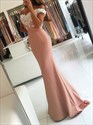 Pale Pink Off The Shoulder Mermaid Evening Dress With Applique