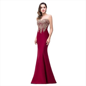 Lace Appliques Formal Long Mermaid Evening Gowns Prom Party Bridesmaid Dress